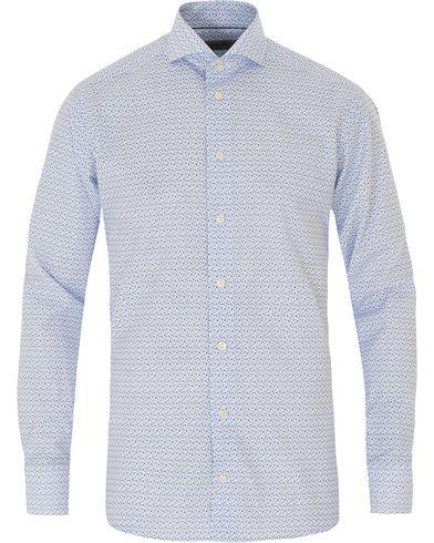 Eton Slim Fit Poplin Printed Shirt White i gruppen Skjortor / Casual skjortor hos Care of Carl (13574711r)