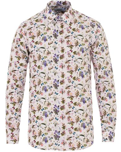 Eton Slim Fit Signature Twill Printed Flower Shirt White i gruppen Skjortor / Casual skjortor hos Care of Carl (13575611r)