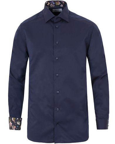 Eton Contemporary Signature Twill Contrast Shirt Navy i gruppen Skjortor / Casual skjortor hos Care of Carl (13576111r)