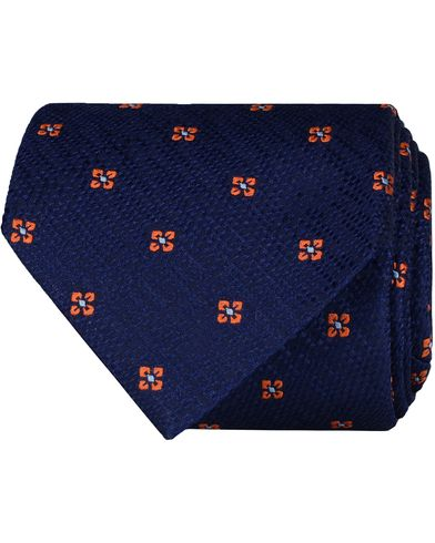 Eton Silk Woven Micro Flower 8 cm Tie Navy  i gruppen Accessoarer / Slipsar hos Care of Carl (13576410)