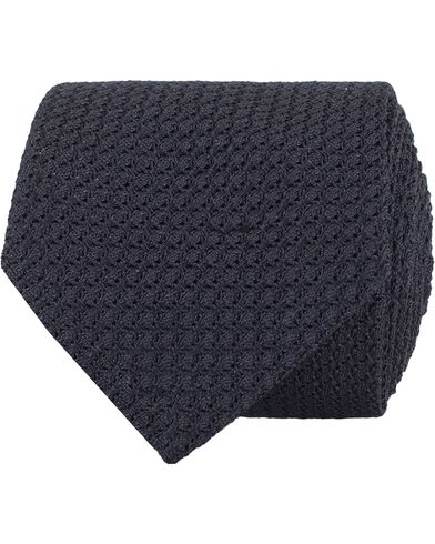 Eton Grenadin Hand Made Structure 8 cm Tie Navy  i gruppen Accessoarer / Slipsar hos Care of Carl (13577010)