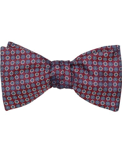 Eton Woven Micro Flower Self Bowtie Wine Red  i gruppen Accessoarer / Flugor / Oknutna flugor hos Care of Carl (13577510)