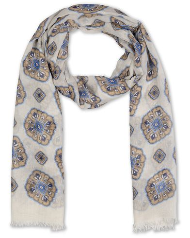 Eton Modal/Cotton Printed Medallion Scarf Beige  i gruppen Accessoarer / Scarves hos Care of Carl (13577810)