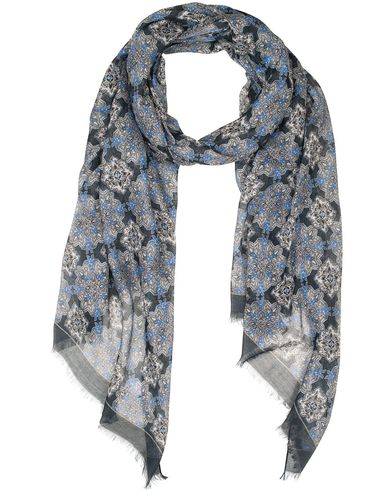 Eton Modal/Cotton Printed Paisley Scarf Navy  i gruppen Accessoarer / Scarves hos Care of Carl (13577910)