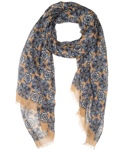 Eton Modal/Cotton Printed Paisley Scarf Brown  i gruppen Accessoarer / Scarves hos Care of Carl (13578010)