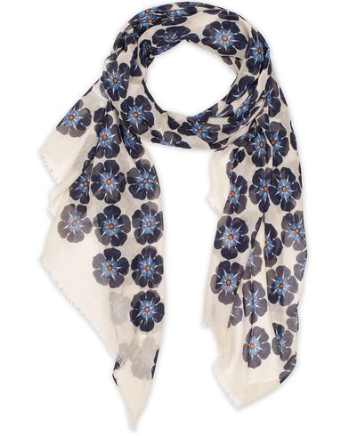 Eton Modal/Cotton Printed Flower Scarf Blue  i gruppen Accessoarer / Scarves hos Care of Carl (13578110)