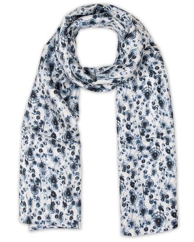 Eton Silk Printed Scarf Blue  i gruppen Accessoarer / Scarves hos Care of Carl (13578210)