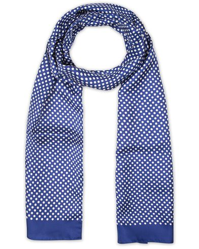 Eton Silk Printed Dot Scarf Blue  i gruppen Accessoarer / Scarves hos Care of Carl (13578510)