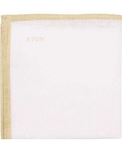 Eton Linen Hand Rolled Edge Pocket Square Brown  i gruppen Accessoarer / Näsdukar hos Care of Carl (13578910)