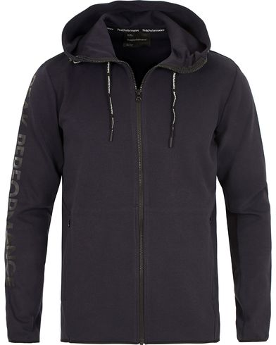 Peak Performance Tech Zip Hoodie Navy i gruppen Tröjor / Huvtröjor hos Care of Carl (13581011r)