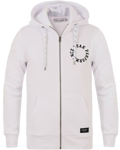 Peak Performance Logo Zip Hoodie White i gruppen Tröjor / Zip-tröjor hos Care of Carl (13581411r)