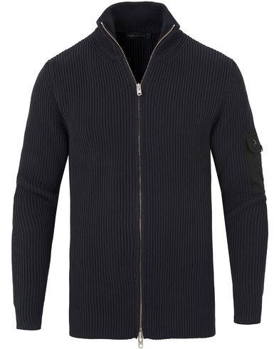 Peak Performance Rev Knitted Zip Jacket Navy i gruppen Kläder / Tröjor / Zip-tröjor hos Care of Carl (13581711r)