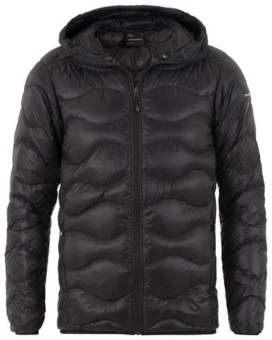 Peak Performance Helium Quilted Hooded Jacket Black i gruppen Design A / Jackor / Vadderade jackor hos Care of Carl (13583011r)