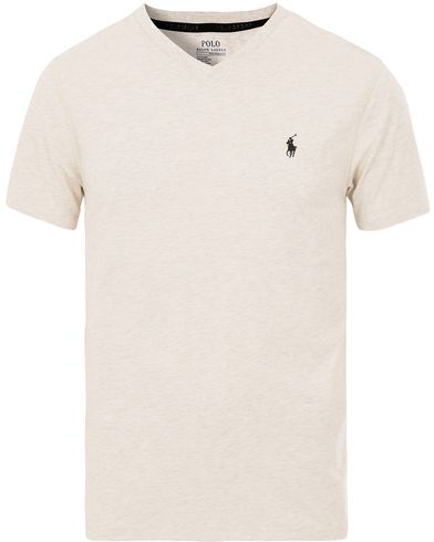 Polo Ralph Lauren Jersey V-neck Track Tee New Sand Heather i gruppen T-Shirts / Kortärmade t-shirts hos Care of Carl (13585211r)