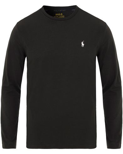 Polo Ralph Lauren Jersey Longsleeve Track Tee Polo Black i gruppen Kläder / T-Shirts / Långärmade t-shirts hos Care of Carl (13585611r)