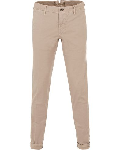 Incotex Slim Fit Stretch Slacks Kit i gruppen Kläder / Byxor / Chinos hos Care of Carl (13587211r)
