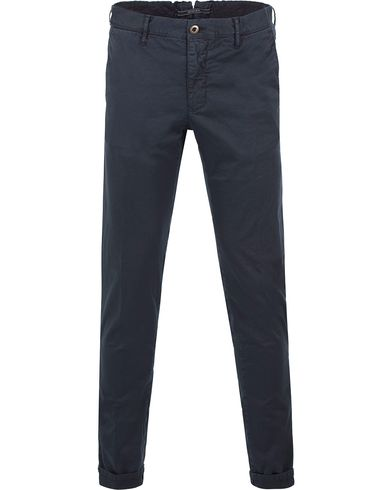 Incotex Slim Fit Stretch Slacks Navy Blue i gruppen Byxor / Chinos hos Care of Carl (13587411r)