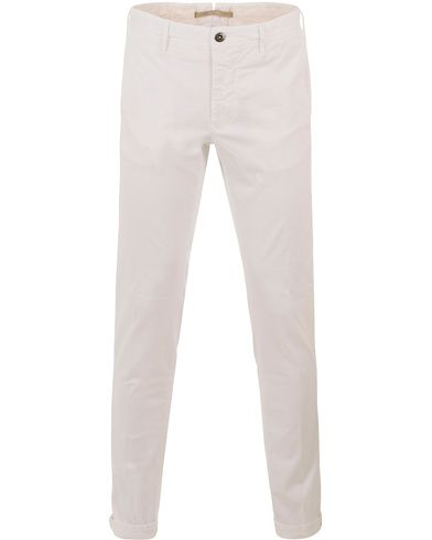 Incotex Slim Fit Stretch Slacks White i gruppen Kläder / Byxor / Chinos hos Care of Carl (13587711r)