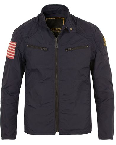 Denim & Supply Ralph Lauren Motorcycle Waxed Nylon Jacket Navy i gruppen Design B / Kläder / Jackor / Tunna jackor hos Care of Carl (13588911r)