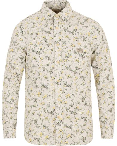 Denim & Supply Ralph Lauren Large Maple Printed Flower Shirt White i gruppen Skjortor / Casual skjortor hos Care of Carl (13589611r)