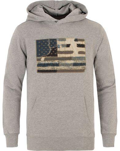 Denim & Supply Ralph Lauren Popover Flag Hood Grey i gruppen Tröjor / Huvtröjor hos Care of Carl (13590311r)