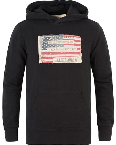 Denim & Supply Ralph Lauren Popover Flag Hood Black i gruppen Kläder / Tröjor / Huvtröjor hos Care of Carl (13590411r)