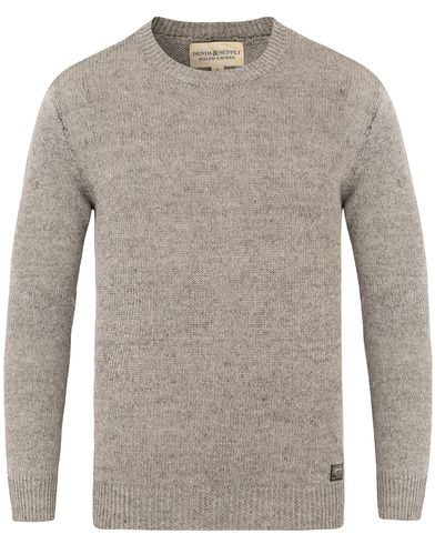 Denim & Supply Ralph Lauren Knitted Raglan Crew Neck Grey i gruppen Kläder / Tröjor / Stickade tröjor hos Care of Carl (13590711r)