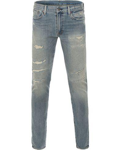 Denim & Supply Ralph Lauren Skinny Skillman Shredded Jeans Light Blue i gruppen Kläder / Jeans / Smala jeans hos Care of Carl (13591011r)