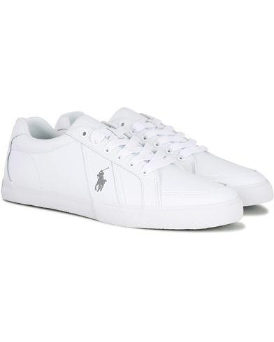 Polo Ralph Lauren Hugh Leather Sneaker White i gruppen Skor / Sneakers / Låga sneakers hos Care of Carl (13592411r)