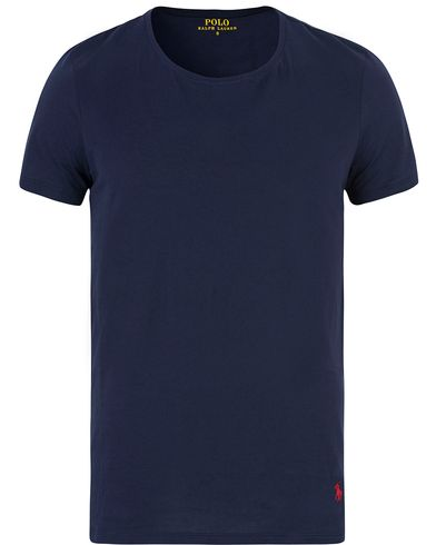 Polo Ralph Lauren Wide Crew Neck Tee Navy i gruppen T-Shirts / Kortärmade t-shirts hos Care of Carl (13593611r)