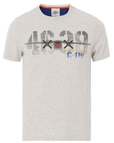 Aeronautica TS1341 Ariplaine Crew Neck Tee Grey Melange i gruppen Kläder / T-Shirts / Kortärmade t-shirts hos Care of Carl (13595611r)