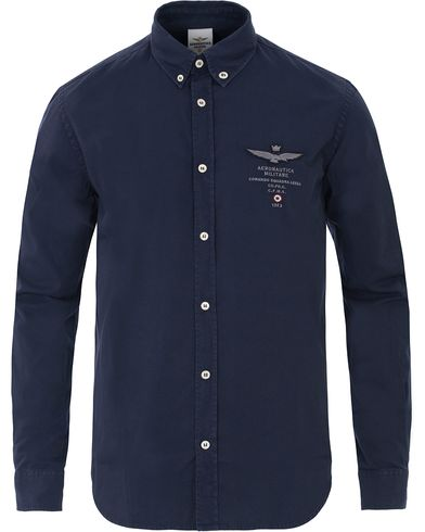 Aeronautica CA1004 Button Down Shirt Navy i gruppen Kläder / Skjortor / Casual skjortor hos Care of Carl (13595711r)