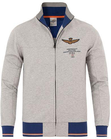 Aeronautica FE1189 Felpa Sweatshirt Grey i gruppen Kläder / Tröjor / Zip-tröjor hos Care of Carl (13596911r)