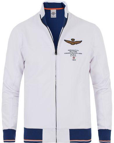 Aeronautica FE1189 Felpa Sweatshirt White i gruppen Tröjor / Zip-tröjor hos Care of Carl (13597011r)
