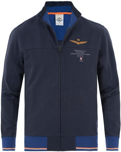Aeronautica FE1189 Felpa Sweatshirt Navy i gruppen Kläder / Tröjor / Zip-tröjor hos Care of Carl (13597111r)
