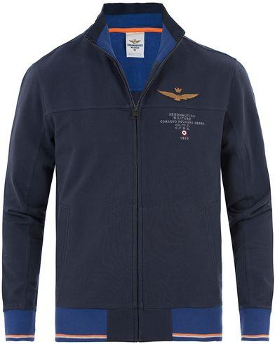 Aeronautica FE1189 Felpa Sweatshirt Navy i gruppen Design A / Tröjor / Zip-tröjor hos Care of Carl (13597111r)