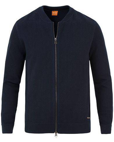 Boss Orange Kobamers Zip Sweater Sky Captain i gruppen Tröjor / Zip-tröjor hos Care of Carl (13599611r)
