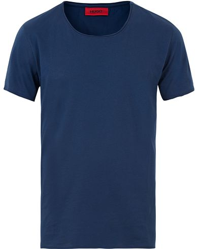 Hugo Depus Roll Edge Tee Medium Blue i gruppen T-Shirts / Kortärmade t-shirts hos Care of Carl (13600411r)
