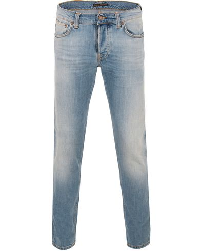 Nudie Jeans Grim Tim Organic Slim Fit Jeans Salty Summer i gruppen Jeans / Smala jeans hos Care of Carl (13601311r)