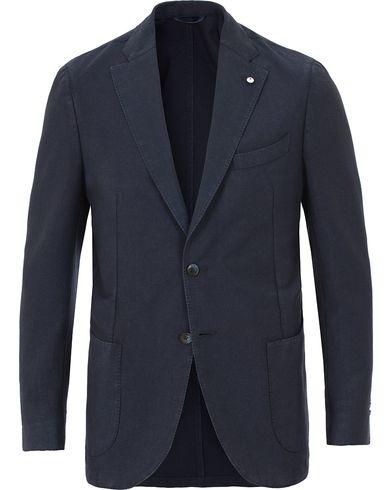 L.B.M. 1911 Jack Regular Vintage Wool/Mohair Blazer Navy i gruppen Kavajer / Enkelknäppta kavajer hos Care of Carl (13603211r)
