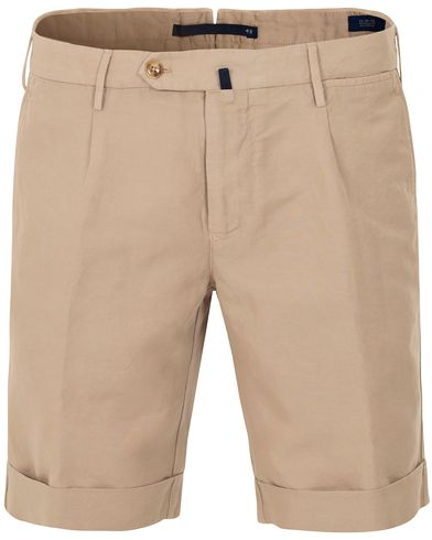Incotex Chinolino Shorts Khaki i gruppen Shorts / Chinosshorts hos Care of Carl (13606611r)