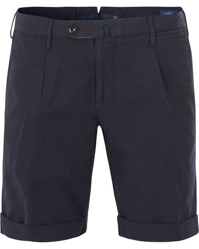 Incotex Chinolino Shorts Navy i gruppen Kläder / Shorts / Chinosshorts hos Care of Carl (13606811r)