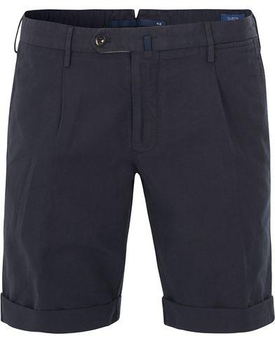 Incotex Chinolino Shorts Navy i gruppen Shorts / Chinosshorts hos Care of Carl (13606811r)