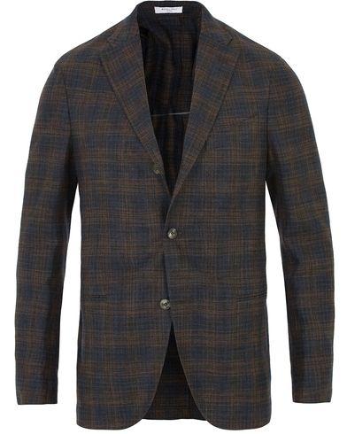 Boglioli K Jacket Wool Tonal Check Blazer Brown i gruppen Kavajer / Enkelknäppta kavajer hos Care of Carl (13607111r)