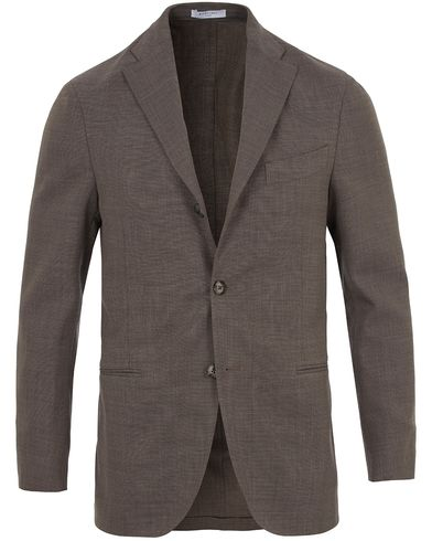Boglioli K Jacket Stretch Wool Blazer Light Grey i gruppen Kläder / Kavajer / Enkelknäppta kavajer hos Care of Carl (13607211r)