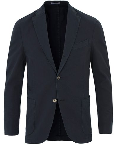 Boglioli K Jacket Stretch Cotton Blazer Dark Blue i gruppen Kavajer / Enkelknäppta kavajer hos Care of Carl (13607511r)