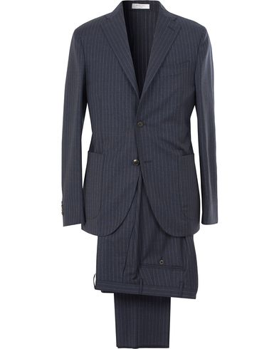 Boglioli K Jacket Wool Pinstripe Suit Blue i gruppen Kostymer hos Care of Carl (13608011r)
