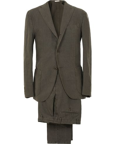 Boglioli K Jacket Linen Suit Green i gruppen Kläder / Kostymer hos Care of Carl (13608111r)