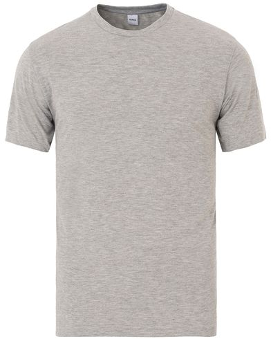 Aspesi Crew Neck Tee Grey Melange i gruppen Design A / T-Shirts / Kortärmade t-shirts hos Care of Carl (13610911r)
