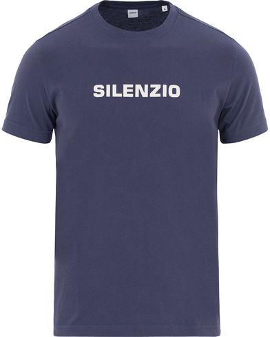Aspesi Silenzio Crew Neck Tee Blue i gruppen T-Shirts / Kortärmade t-shirts hos Care of Carl (13611111r)
